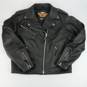 HARLEY DAVIDSON BASIC SKINS LEATHER JACKET SZ L
